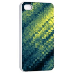 Polygon Dark Triangle Green Blacj Yellow Apple Iphone 4/4s Seamless Case (white) by Mariart