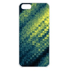 Polygon Dark Triangle Green Blacj Yellow Apple Iphone 5 Seamless Case (white) by Mariart