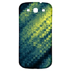 Polygon Dark Triangle Green Blacj Yellow Samsung Galaxy S3 S Iii Classic Hardshell Back Case by Mariart
