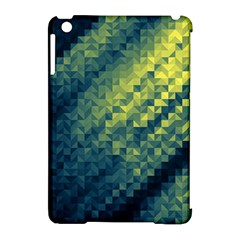 Polygon Dark Triangle Green Blacj Yellow Apple Ipad Mini Hardshell Case (compatible With Smart Cover) by Mariart
