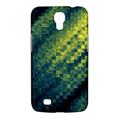 Polygon Dark Triangle Green Blacj Yellow Samsung Galaxy Mega 6 3  I9200 Hardshell Case by Mariart