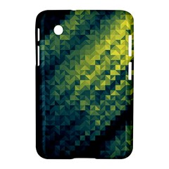Polygon Dark Triangle Green Blacj Yellow Samsung Galaxy Tab 2 (7 ) P3100 Hardshell Case  by Mariart