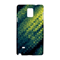 Polygon Dark Triangle Green Blacj Yellow Samsung Galaxy Note 4 Hardshell Case by Mariart