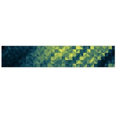 Polygon Dark Triangle Green Blacj Yellow Flano Scarf (large) by Mariart