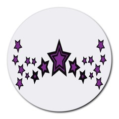 Star Purple Space Round Mousepads by Mariart