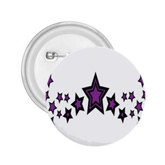 Star Purple Space 2.25  Buttons by Mariart