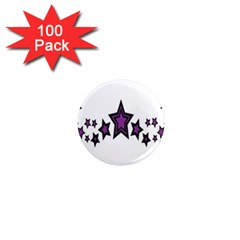 Star Purple Space 1  Mini Magnets (100 Pack)  by Mariart