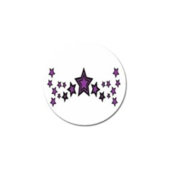 Star Purple Space Golf Ball Marker by Mariart