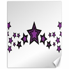 Star Purple Space Canvas 11  X 14   by Mariart