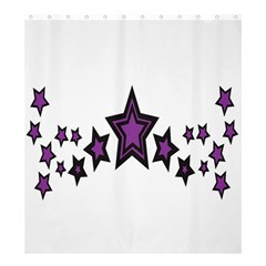 Star Purple Space Shower Curtain 66  X 72  (large)  by Mariart