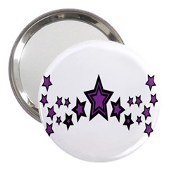 Star Purple Space 3  Handbag Mirrors by Mariart