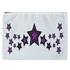 Star Purple Space Cosmetic Bag (xxl)  by Mariart