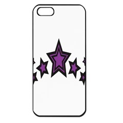 Star Purple Space Apple Iphone 5 Seamless Case (black) by Mariart