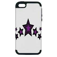 Star Purple Space Apple Iphone 5 Hardshell Case (pc+silicone) by Mariart