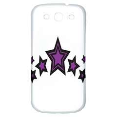 Star Purple Space Samsung Galaxy S3 S Iii Classic Hardshell Back Case by Mariart