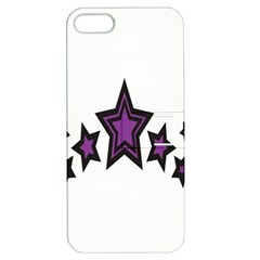 Star Purple Space Apple Iphone 5 Hardshell Case With Stand by Mariart