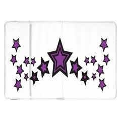 Star Purple Space Samsung Galaxy Tab 8 9  P7300 Flip Case by Mariart