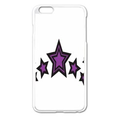 Star Purple Space Apple Iphone 6 Plus/6s Plus Enamel White Case by Mariart