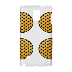 Star Circle Orange Round Polka Samsung Galaxy Note 4 Hardshell Case by Mariart