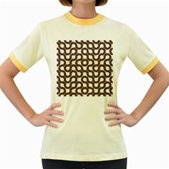 Seamless Geometric Circle Women s Fitted Ringer T Shirts