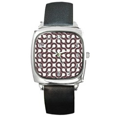 Seamless Geometric Circle Square Metal Watch by Mariart