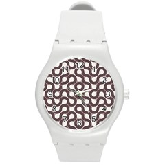 Seamless Geometric Circle Round Plastic Sport Watch (m) by Mariart