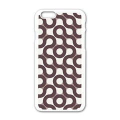Seamless Geometric Circle Apple Iphone 6/6s White Enamel Case by Mariart