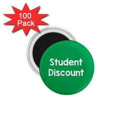 Student Discound Sale Green 1 75  Magnets (100 Pack)  by Mariart