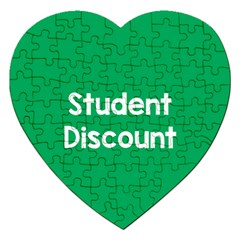 Student Discound Sale Green Jigsaw Puzzle (heart) by Mariart