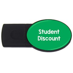 Student Discound Sale Green Usb Flash Drive Oval (4 Gb) by Mariart