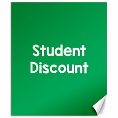 Student Discound Sale Green Canvas 8  X 10  by Mariart
