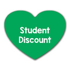 Student Discound Sale Green Heart Mousepads by Mariart