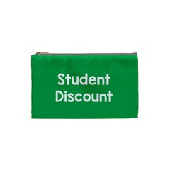Student Discound Sale Green Cosmetic Bag (small)  by Mariart