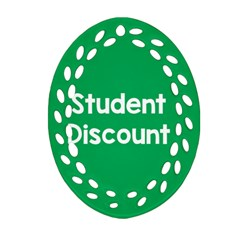 Student Discound Sale Green Oval Filigree Ornament (two Sides) by Mariart
