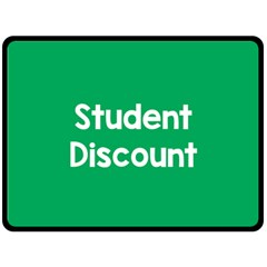 Student Discound Sale Green Double Sided Fleece Blanket (large)  by Mariart