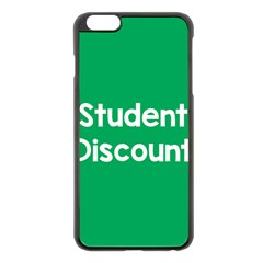 Student Discound Sale Green Apple Iphone 6 Plus/6s Plus Black Enamel Case by Mariart
