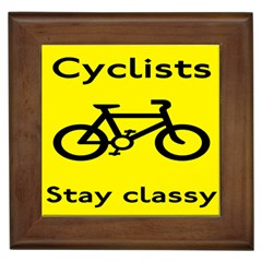 Stay Classy Bike Cyclists Sport Framed Tiles by Mariart