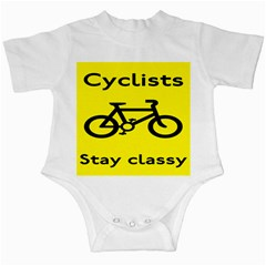 Stay Classy Bike Cyclists Sport Infant Creepers by Mariart