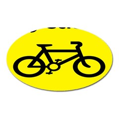 Stay Classy Bike Cyclists Sport Oval Magnet by Mariart