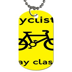 Stay Classy Bike Cyclists Sport Dog Tag (two Sides) by Mariart