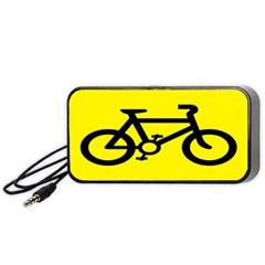 Stay Classy Bike Cyclists Sport Portable Speaker (black) by Mariart