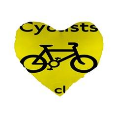 Stay Classy Bike Cyclists Sport Standard 16  Premium Flano Heart Shape Cushions by Mariart