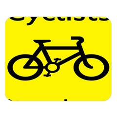 Stay Classy Bike Cyclists Sport Double Sided Flano Blanket (large)  by Mariart