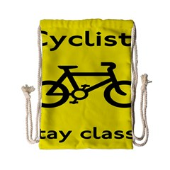 Stay Classy Bike Cyclists Sport Drawstring Bag (small) by Mariart