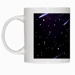 Starry Night Sky Meteor Stock Vectors Clipart Illustrations White Mugs by Mariart