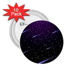 Starry Night Sky Meteor Stock Vectors Clipart Illustrations 2 25  Buttons (10 Pack)  by Mariart