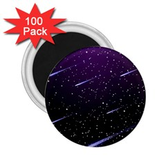 Starry Night Sky Meteor Stock Vectors Clipart Illustrations 2 25  Magnets (100 Pack)  by Mariart