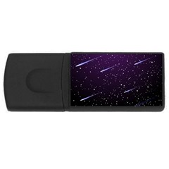 Starry Night Sky Meteor Stock Vectors Clipart Illustrations Usb Flash Drive Rectangular (4 Gb) by Mariart