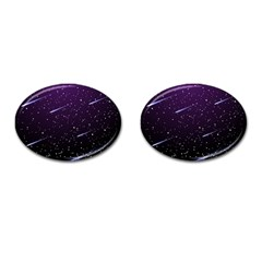 Starry Night Sky Meteor Stock Vectors Clipart Illustrations Cufflinks (oval) by Mariart