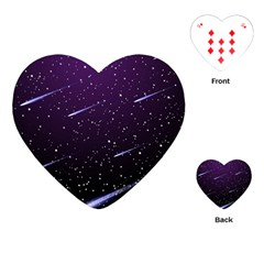 Starry Night Sky Meteor Stock Vectors Clipart Illustrations Playing Cards (heart)  by Mariart